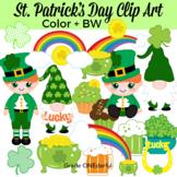 St. Patrick's Day Clipart, Leprechaun, Rainbows, Pot of Go