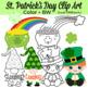 St. Patrick's Day Clipart, Leprechaun, Rainbows, Pot of Gold, Mugs, Cupcakes