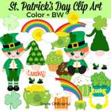 St. Patrick's Day Clipart, Leprechaun, Rainbows, Pot of Go