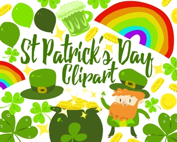 St Patrick's Day Clipart Set For Personal And Commercial Use