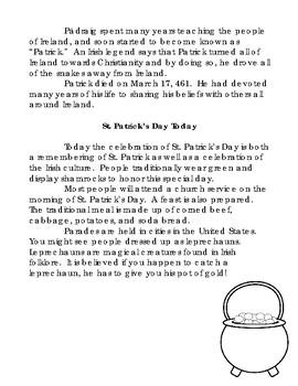 St. Patrick's Day Close Read