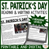 St. Patrick's Day Reading Comprehension and Activities