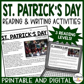St. Patrick's Day Close Reading- Main Idea, Vocabulary, &