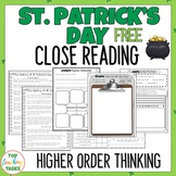 St. Patrick's Day Reading Comprehension Passage and Questi