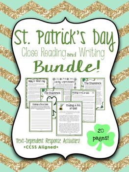 *BTSBONUS* St. Patrick's Day Close Reading & Writing {Bundle}