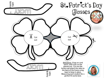 St Patrick's Day Craft Kindergarten Clover Glasses - by Teacher's Brain