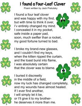 St. Patrick's Day Clover Poem & Activities