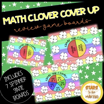 St. Patrick's Day Clover Spin & Cover (Math Facts)