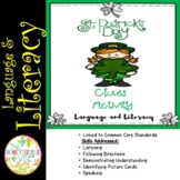 St. Patrick's Day Clues Activity Language & Literacy
