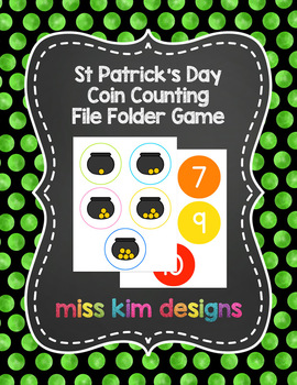 St Patrick's Day Coin Counting File Folder Game for Special Education