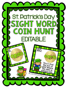 St. Patrick's Day Coin Hunt - EDITABLE
