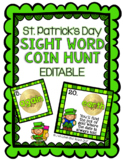 St. Patrick's Day Sight Word Coin Hunt - EDITABLE