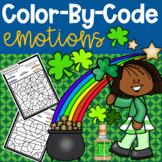St. Patrick's Day Color-By-Code Emotions Activity