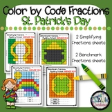 St. Patrick's Day Color By Code Fractions