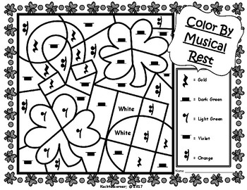 St  Patrick's Day Color By Music Activities: PDF Worksheet Collection