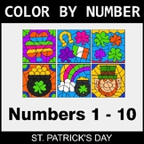 St. Patrick's Day Color By Number 1 - 10