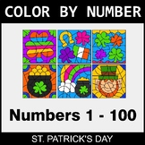 St. Patrick's Day Color By Number 1 - 100