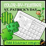 St. Patrick's Day Color By Number: Add and Subtract Integers