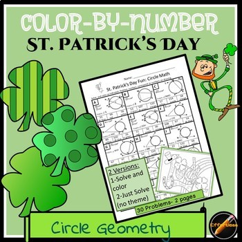 St. Patrick's Day Color By Number: Circle Geometry