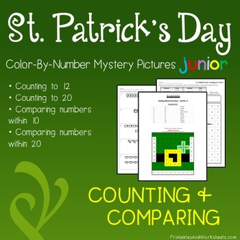 St. Patrick's Day Color-By-Number: Counting/Greater Than/L