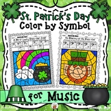 St. Patrick's Day Color By Symbol (Music)