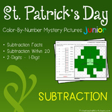 St. Patrick's Day Color-By-Number: Subtraction (K-2)