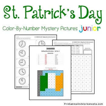 St. Patrick's Day Telling Time the Hour / Telling Time to the Half Hour