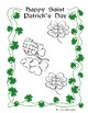 St. Patrick's Day Color It In Booklet