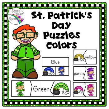 St. Patrick's Day Color Puzzles