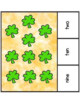 St. Patrick's Day Color Word & Number Word Counting Clip Center Fun!