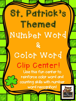 St. Patrick's Day Color Word & Number Word Counting Clip C