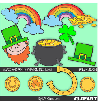 St. Patrick's Day Color and Line Art ClipArt