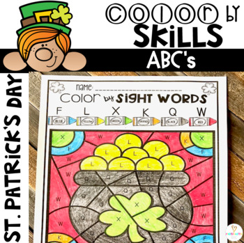 St. Patrick's Day Color by ABC's
