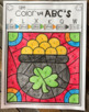 St. Patrick's Day Color by Code ABC's