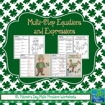 St. Patrick's Day Color by Answer Worksheets