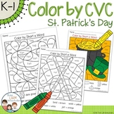 St Patrick's Day Color by CVC Word