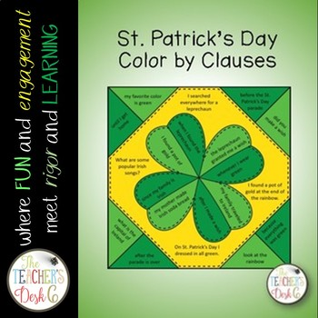 St. Patrick's Day Color by Clauses