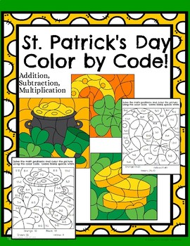 St. Patrick's Day Color by Code.
