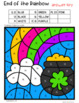 St. Patrick's Day Color by Code Math Addition and Subtraction