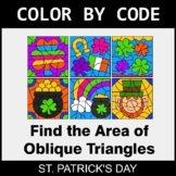 St. Patrick's Day Color by Code - Area of Oblique Triangles