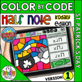 St. Patrick's Day Color by Code Boom Cards (Half Note - KO