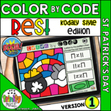 St. Patrick's Day Color by Code Boom Cards (Quarter Rest -
