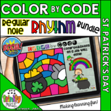 St. Patrick's Day Color by Code Boom Cards (Rhythm Bundle