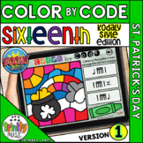 St. Patrick's Day Color by Code Boom Cards (Sixteenth Note