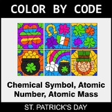 St. Patrick's Day Color by Code - Chemical Symbol, Atomic