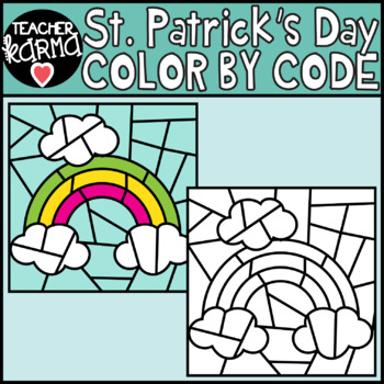 St. Patrick's Day Color by Code Clipart