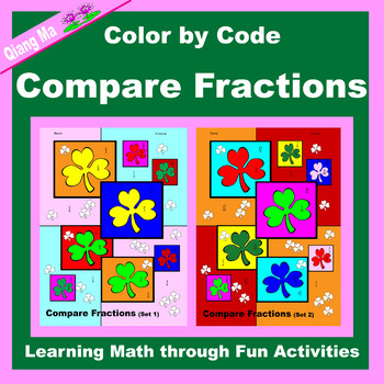 St. Patrick's Day Color by Code: Compare Fractions