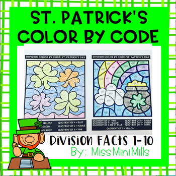 St. Patrick's Day Color by Code: Division