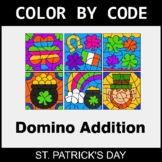 St. Patrick's Day Color by Code - Domino Addition