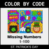 St. Patrick's Day Color by Code - Find the Missing Numbers